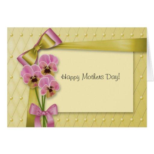 Tarjeta de la flor del día de madres