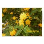 tarjeta de la flor gracias