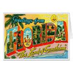 Tarjeta de la Florida del vintage