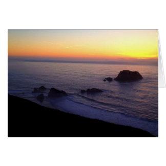 Tarjeta de la foto 2 de la puesta del sol de la r