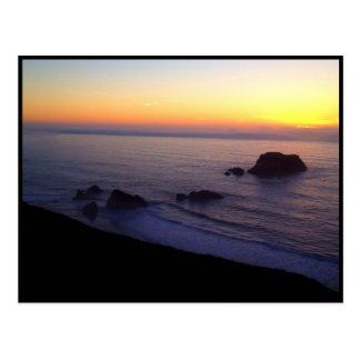 Tarjeta de la foto 2 de la puesta del sol de la r tarjeta postal