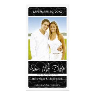 Tarjeta de la foto: Ahorre la fecha Tarjeta Personal Con Foto