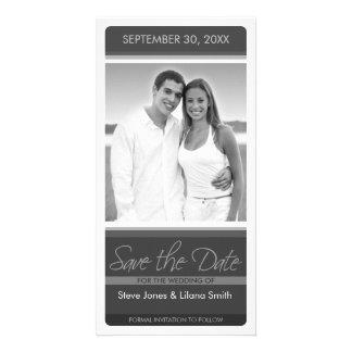Tarjeta de la foto: Ahorre la fecha Tarjetas Personales Con Fotos
