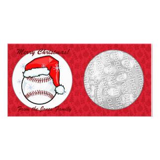 Tarjeta de la foto - béisbol del navidad tarjetas fotograficas