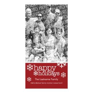 Tarjeta de la foto: Buenas fiestas con 1 foto Tarjetas Con Fotos Personalizadas