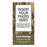 Tarjeta de la foto - Camo verde (día de fiesta, fa Tarjeta Personal Con Foto
