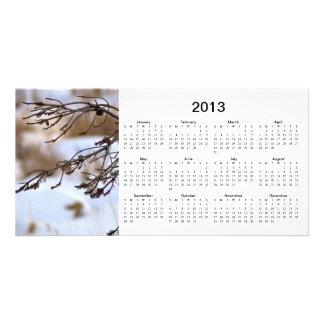 Tarjeta de la foto de 2013 calendarios tarjetas con fotos personalizadas