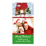 Tarjeta de la foto de familia de Chirstmas de la c Tarjeta Fotográfica Personalizada