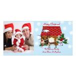 Tarjeta de la foto de familia de Chirstmas de la c Tarjetas Personales Con Fotos