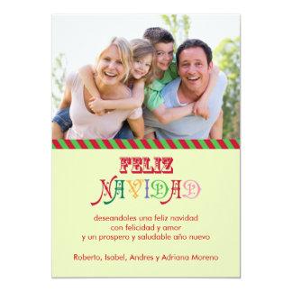 """Tarjeta de la foto de familia de Feliz Navidad Invitación 5"""" X 7"""""""