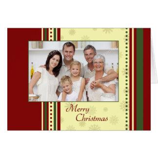 Tarjeta de la foto de familia de las Felices Navid