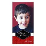 Tarjeta de la foto de familia de las Felices Navid Tarjeta Personal