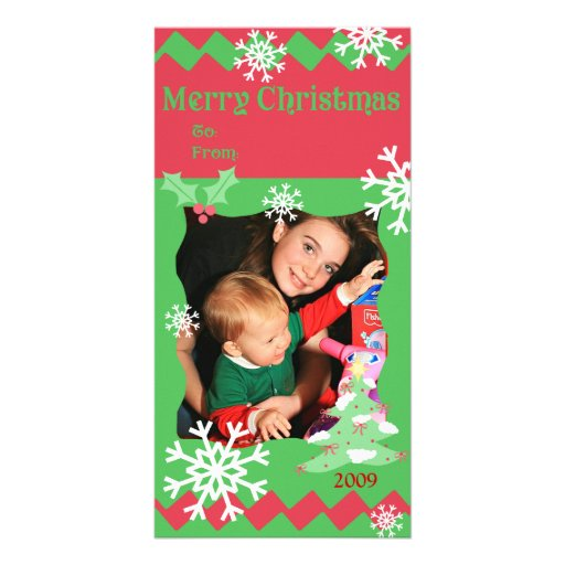 Tarjeta de la foto de familia de los deseos del na tarjeta personal con foto