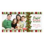 Tarjeta de la foto de familia del navidad de las r tarjetas personales con fotos