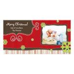 Tarjeta de la foto de familia del navidad tarjetas fotográficas personalizadas