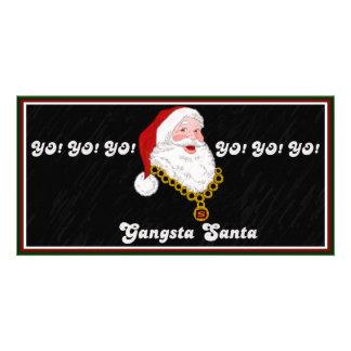 Tarjeta de la foto de Gangsta Santa Tarjetas Con Fotos Personalizadas