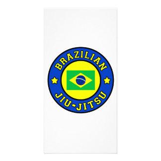 Tarjeta de la foto de Jiu-Jitsu del brasilen@o Tarjeta Con Foto Personalizada