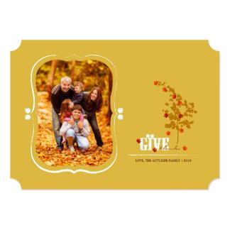 Tarjeta de la foto de la acción de gracias de las comunicado personalizado