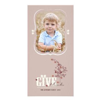 Tarjeta de la foto de la acción de gracias de las tarjeta personal