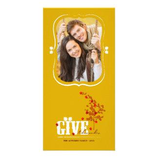 Tarjeta de la foto de la acción de gracias de las tarjetas con fotos personalizadas