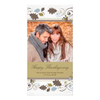 Tarjeta de la foto de la acción de gracias de los tarjetas fotograficas