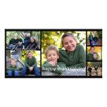 Tarjeta de la foto de la acción de gracias tarjeta fotográfica personalizada