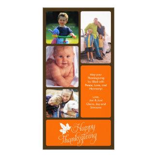 Tarjeta de la foto de la acción de gracias tarjeta fotográfica