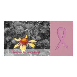 Tarjeta de la foto de la ayuda de la conciencia de tarjetas personales