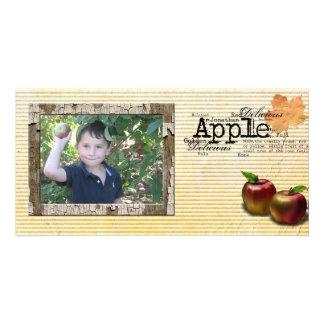 tarjeta de la foto de la cosecha de la manzana tarjeta con foto personalizada