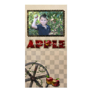 tarjeta de la foto de la cosecha de la manzana tarjetas fotograficas personalizadas