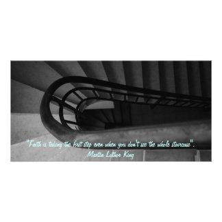 Tarjeta de la foto de la escalera tarjeta con foto personalizada