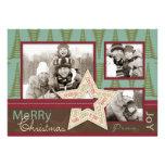 Tarjeta de la foto de la estrella del navidad