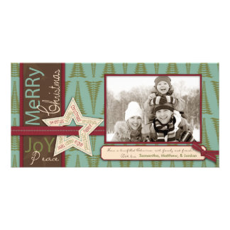 Tarjeta de la foto de la estrella del navidad tarjetas fotograficas personalizadas