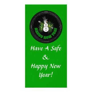 Tarjeta de la foto de la Feliz Año Nuevo 1 Tarjeta Fotografica