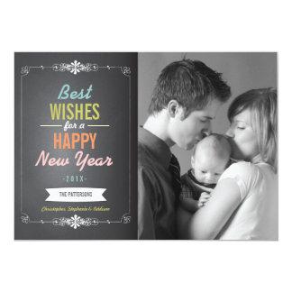 Tarjeta de la foto de la Feliz Año Nuevo de Invitaciones Personales
