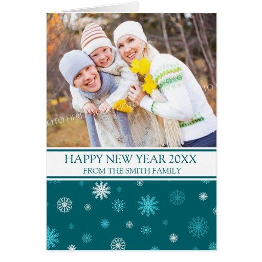 Tarjeta de la foto de la Feliz Año Nuevo de los co