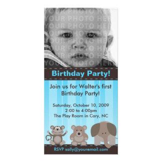 Tarjeta de la foto de la fiesta de cumpleaños tarjeta fotográfica