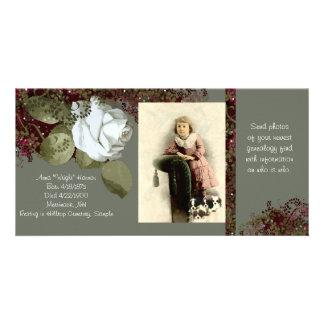 Tarjeta de la foto de la genealogía tarjetas con fotos personalizadas