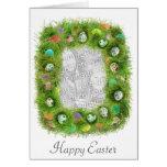 Tarjeta de la foto de la hierba de Pascua