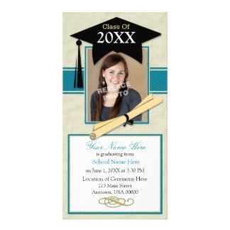 Tarjeta de la foto de la invitación de la graduaci tarjetas fotográficas personalizadas