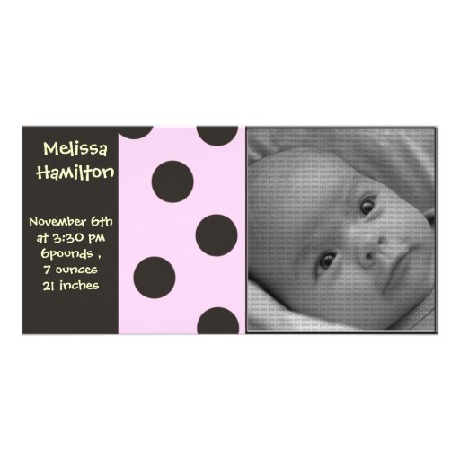 tarjeta de la foto de la invitación de la niña tarjeta personal