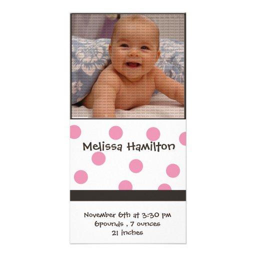 tarjeta de la foto de la invitación de la niña tarjetas personales