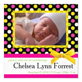 Tarjeta de la foto de la invitación del bebé