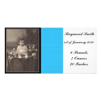 Tarjeta de la foto de la invitación del bebé tarjetas fotográficas