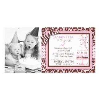 Tarjeta de la foto de la invitación del chica del  tarjetas fotograficas