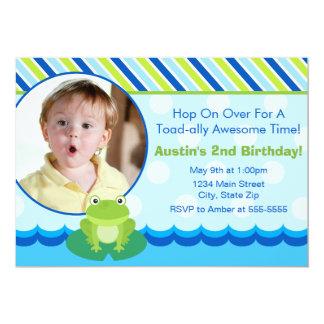 Tarjeta de la foto de la invitación del cumpleaños