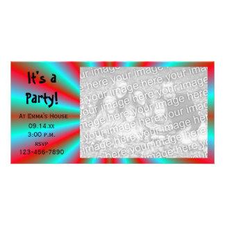 Tarjeta de la foto de la invitación del fiesta de  tarjetas fotográficas personalizadas