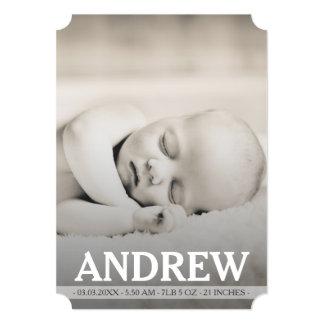 Tarjeta de la foto de la invitación del nacimiento