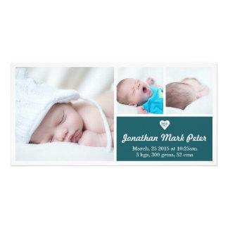 Tarjeta de la foto de la invitación del nacimiento tarjetas fotograficas personalizadas