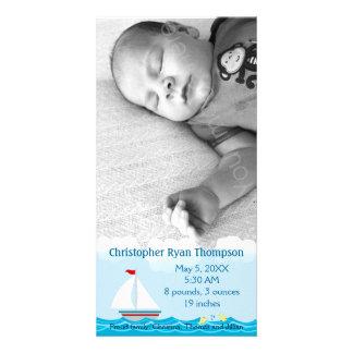 Tarjeta de la foto de la invitación del nacimiento tarjetas personales con fotos